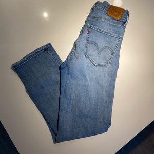 Levi's Straight Leg High Waisted Jeans